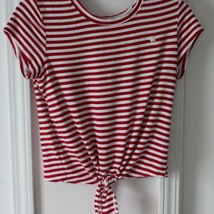 Womens Abercrombie and Fitch Knotted T-shirt